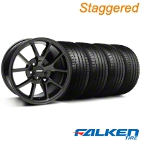 Staggered FR500 Gloss Black Wheel & Falken Tire Kit - 18x9/10 (94-98) - American Muscle Wheels KIT||28477||mb1||28474||79560||79562