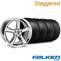Staggered 2010 GT Premium Style Chrome Wheel & Falken Tire Kit - 18x9/10 (94-98) - American Muscle Wheels KIT||79562||mb1||79560||28214||28211