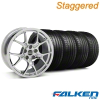 Staggered GT4 Chrome Wheel & Falken Tire Kit - 18x9/10 (94-98) - American Muscle Wheels KIT||mb1||79562||28133||28147||79560