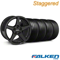 Staggered S Style Black Wheel & Falken Tire Kit - 18x9/10 (94-98) - American Muscle Wheels KIT||28075||mb1||28252||79560||79562