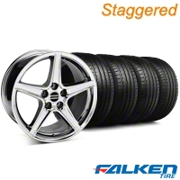 Staggered S Style Chrome Wheel & Falken Tire Kit - 18x9/10 (94-98) - American Muscle Wheels KIT||79560||28067||28251||mb1||79562