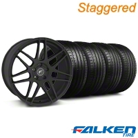 Staggered Forgestar F14 Monoblock Staggered Textured Black Forgestar F14 Monoblock Wheel & Falken Tire Kit - 18x9/10 (99-04) - American Muscle Wheels KIT||29839||79561||mb1||29838||79562