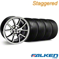 Staggered FR500 Black Chrome Wheel & Falken Tire Kit - 18x9/10 (99-04) - American Muscle Wheels KIT||79562||10104||79561||10103||mb1