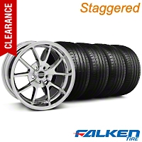 Staggered FR500 Chrome Wheel & Falken Tire Kit - 18x9/10 (99-04) - American Muscle Wheels KIT||79561||28103||mb1||28273||79562