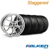 Staggered GT4 Chrome Wheel & Falken Tire Kit - 18x9/10 (99-04) - American Muscle Wheels KIT||79561||28147||79562||mb1||28133