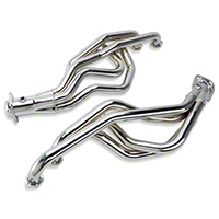 MAC Chrome Long Tube Headers - Automatic (79-93 5.0L) - MAC Performance TFA9358