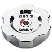 Chrome Brake Fluid Cap Cover (05-14 V6 & GT) - Modern Billet UDU-05-BRK-CH