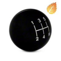 Modern Billet Retro Style 5-Speed Shift Knob - Black (05-10 All) - Modern Billet 41065