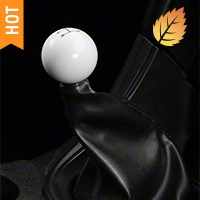 Modern Billet Retro Style 5-Speed Shift Knob - White (79-04 All)
