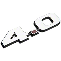 Chrome 4.0L V6 Fender Emblem - AM Exterior 5201