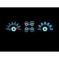 White Face Reverse Glow Gauges (05-09 V6)