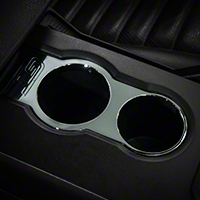 Chrome Cup Holder Bezel - GT Logo (05-09 All)