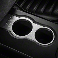 Modern Billet Satin Cup Holder Bezel - GT Logo (05-09 All)