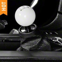 Modern Billet Retro Style 6-Speed Shift Knob - White (11-14 All)