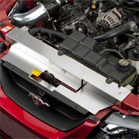 Brushed Stainless Steel Radiator Cover (99-04 GT, V6, Mach 1; 99-01 Cobra) - Modern Billet RAD-99-BRU