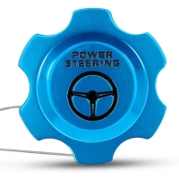 Anodized Blue Power Steering Fluid Cap (05-10 All) - Modern Billet UDU-05-POW-BL