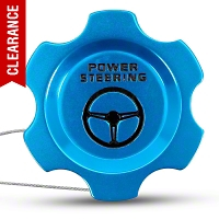 Modern Billet Anodized Blue Power Steering Fluid Cap (05-10 All) - Modern Billet UDU-05-POW-BL