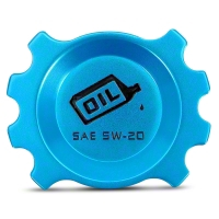Anodized Blue Oil Cap (05-14 GT; 11-14 V6) - Modern Billet UDU-05-OIL-GT-BL