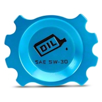 Anodized Blue Oil Cap (05-10 V6) - Modern Billet UDU-05-OIL-V6-BL