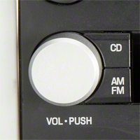 Satin Radio Knob (05-09 All) - Modern Billet BIL-05-RDK-SAT