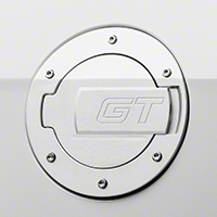 MMD Chrome Billet Aluminum Fuel Door - GT Logo (10-14 All)