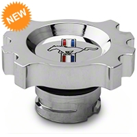 Modern Billet Chrome Oil Cap - Tri-Bar Logo (05-14 GT, V6) - Modern Billet 41402