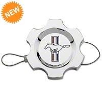 Modern Billet Chrome Power Steering Cap - Tri-Bar Logo (96-10 All)