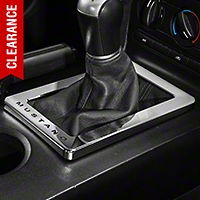 Modern Billet Chrome Shifter Bezel - Manual - Mustang Lettering (05-09 All) - Modern Billet 41416