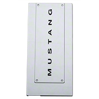 Modern Billet Chrome Fuse Box Cover - Mustang Lettering (05-09 All) - Modern Billet 41420