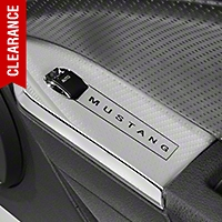 Modern Billet Chrome Window Switch Plates w/ Mustang Lettering - Coupe (05-09 All) - Modern Billet 41428