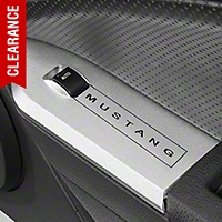 Modern Billet Satin Window Switch Plates w/ Mustang Lettering - Coupe (05-09 All) - Modern Billet 41429