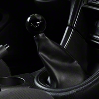 Modern Billet Retro Style 5-Speed Shift Knob w/ Running Pony Logo - Black (79-04 All) - Modern Billet 41430