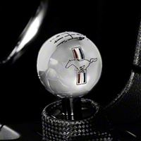 Modern Billet Retro 6-Speed Shift Knob w/ Tri-Bar Logo - Chrome (11-14 GT/V6, 11-12 GT500) - Modern Billet 41436