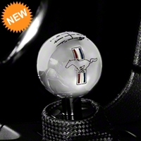 Modern Billet Retro 6-Speed Shift Knob w/ Tri-Bar Logo - Chrome (11-14 All) - Modern Billet 41436
