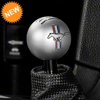 Modern Billet Retro 6-Speed Shift Knob w/ Tri-Bar Logo - Satin (11-14 All) - Modern Billet 41437