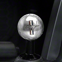 Modern Billet 2010 Style Shift Knob w/ Tri-Bar Logo - Chrome (05-10 All) - Modern Billet 41440