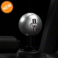 Modern Billet 2010 Style Shift Knob w/ Tri-Bar Logo - Satin (05-10 All) - Modern Billet 41441