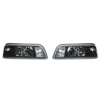 Black One-Piece Headlights (87-93 All) - AM Lights 42012