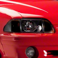 Black Headlights (87-93 All) - AM Lights KIT