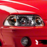 Chrome Headlights (87-93 All) - AM Lights KIT