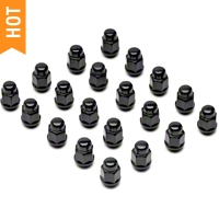 Black Acorn Lug Nuts - 13/16in (79-14 All) - AmericanMuscle Wheels 71188BC