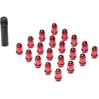 Red 6 Spline Lug Nuts (79-14 All) - AmericanMuscle Wheels 21183RD