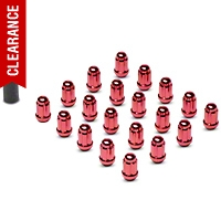 Red 6 Spline Lug Nuts (79-14 All) - American Muscle Wheels 21183RD