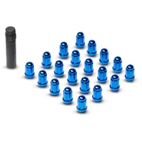 Blue 6 Spline Lug Nuts (79-14 All) - AmericanMuscle Wheels 21183BL