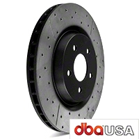 DBA X-Gold Series Cross Drilled/Slotted Rotors - Front Pair (94-04 Bullitt, Mach 1, Cobra) - DBA DBA 069X