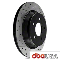 DBA X-Gold Series Cross Drilled/Slotted Rotors - Rear Pair (94-04 Bullitt, Mach 1, Cobra) - DBA DBA 102X
