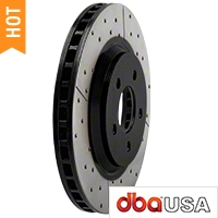 DBA X-Gold Series Cross Drilled/Slotted Rotors - Front Pair (05-10 GT; 11-14 V6) - DBA DBA 2113X