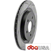 DBA T2 Street Series Slotted Rotors - Rear Pair (05-14 GT, V6) - DBA DBA 2114S