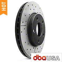 DBA X-Gold Series Cross Drilled/Slotted Rotors - Front Pair (94-04 GT, V6) - DBA DBA 855X