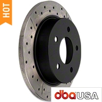 DBA X-Gold Series Cross Drilled/Slotted Rotors - Rear Pair (94-04 GT, V6) - DBA DBA 856X